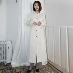 Single trench long coat
