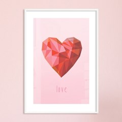 Polygon love - A2,A3,A4 메탈액자