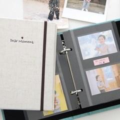 쁘띠로그 바인더 전용 접착식 앨범 내지-블랙 5매(10P)