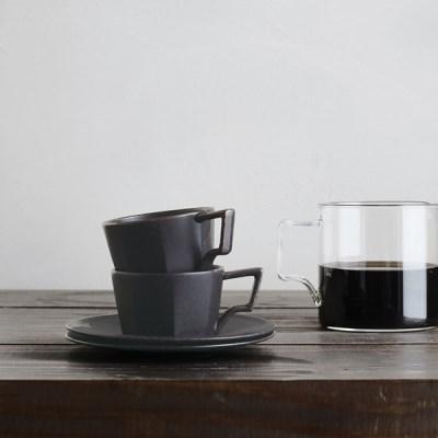 [킨토] OCT 컵&소서 80ml (블랙)