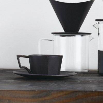 [킨토] OCT 컵&소서 300ml (블랙)