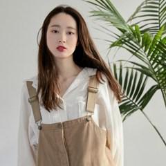 [치즈달] cream crinkle blouse