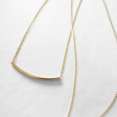 14K ROUND BAR SLIM NECKLACE
