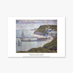 Harbour At Port En Bessin At High Tide - 조르주 쇠라 004
