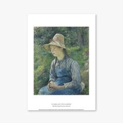 Peasant Girl with a Straw Hat - 카미유 피사로 005
