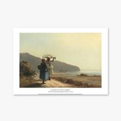 Two Women Chatting by the Sea, St. Thomas - 카미유 피사로 001