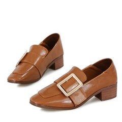 kami et muse  Over belted middle heel loafers_KM18s053