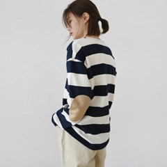 Comfort stripe cotton tee