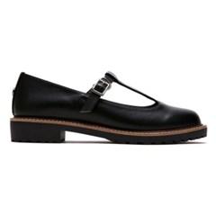 [PR] T-Strap Loafer_Black (FLPR8S1W21)