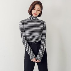 [로코식스] thin stripe high-neck T/티셔츠_(758335)
