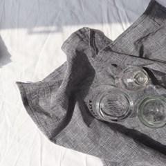glen check kitchen fabric