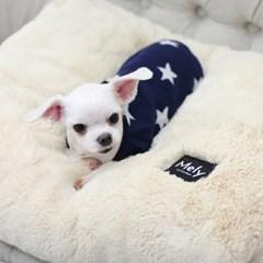 멜리펫 엄마쿠션 아이보리 강아지 퍼방석