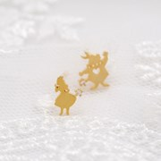 [Disney]앨리스_골드귀걸이