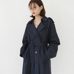 Everyday cotton trench coat