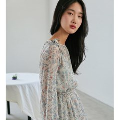 [치즈달] string chiffon dress