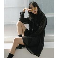 [치즈달] girlish frill dress