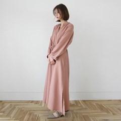 Shirring maxi dress