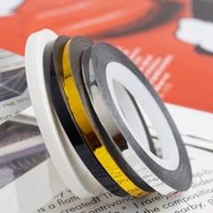 메탈릭라인테이프0.7mm4종세트(화이트+블랙+실버+골드_(2168306)