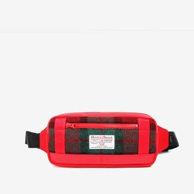 WAIST BAG X HARRIS TWEED Red