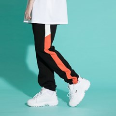 LINE SWEAT JOGGER PANTS BLKORG