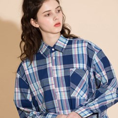 [2/23발송] OVERFIT CHECK SHIRTS BLUEPINK