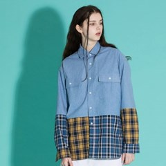 [2/23발송] OVERFIT CHECK DENIM SHIRTS