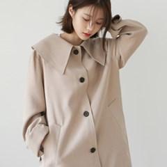 Girlish slit trench coat