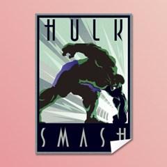 [MARVEL] 마블코믹스 정품 레트로아트 포스터 - 헐크 #1