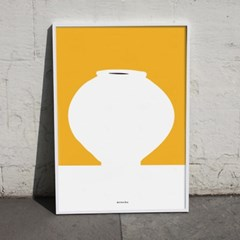 유니크 인테리어 디자인 포스터 M 달항아리