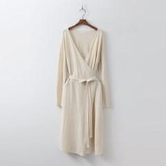 Spring Knit Wrap Dress