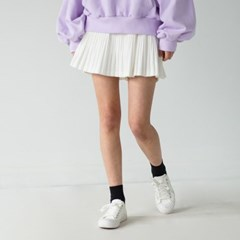 banding flare pleats skirt