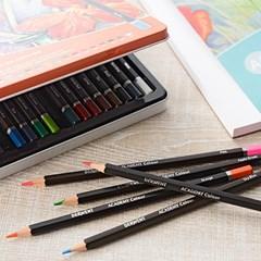 더웬트 아카데미 수채 색연필 12색 틴케이스