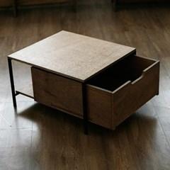 스틸 오브 JWK 토파즈 브라운  소파 협탁  테이블