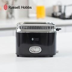 영국 러셀홉스 레트로 토스터 블랙_RH-2168B/토스트기