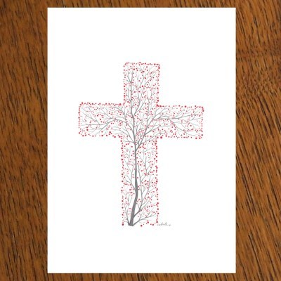 STRAWHAT LOVE illust postcard-십자가열매