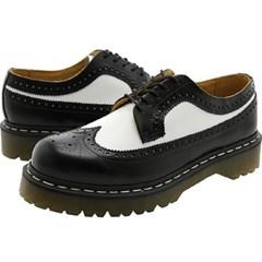 닥터마틴 3989 브로그 블랙 화이트 윙팁 R10458001/신발_(502323939)