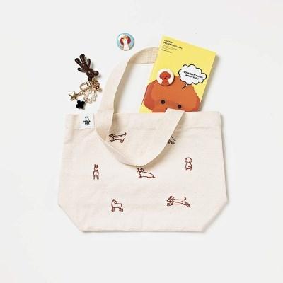 도시락 자수에코백 : Line eco bag