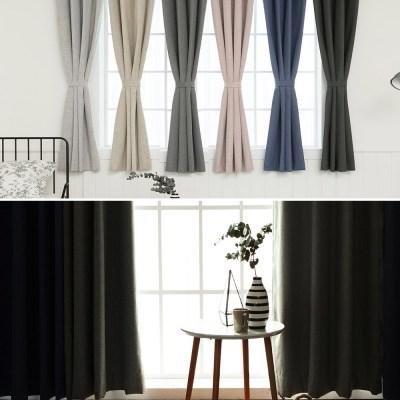 [1+1] 어슈어 100%블랙아웃 창문 암막커튼 6colors