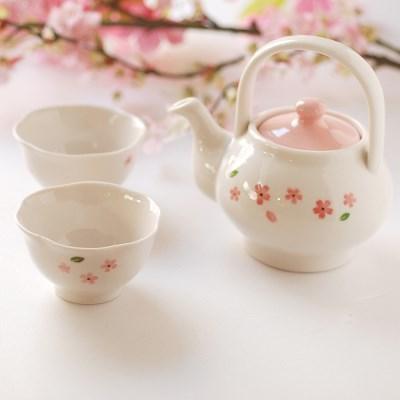 다기셋트(주전자S1+꽃잎잔2)벚꽃