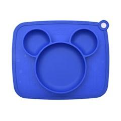 디즈니베이비 실리콘 아이콘식판(블루)