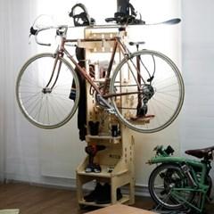 JWK 바이크 부스터 bike booster 자전거거치대겸 다용도수납장