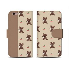 4Pocket Diary cover/ Little deer beige pattern