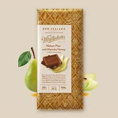 휘태커스 넬슨 페어 앤 마누카허니 블럭 초콜릿 100g