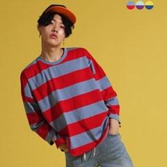 Over & Crop Stripe T-shirt(3color)(unisex)