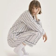 [w] Multi Stripe Pajama Set