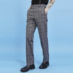 check straight slacks (2 color) - UNISEX_(891365)
