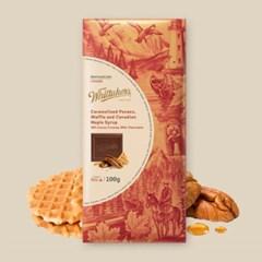 휘태커스 와플 앤 캐나디안 메이플시럽 블럭 초콜릿 100g