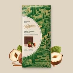 휘태커스 이탈리안 피드몬드 헤이즐넛 블럭 초콜릿 100g
