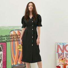 [재입고] Puff Button Dress In Black