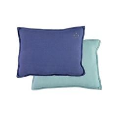 Square cushion - royal blue & light teal (22x30cm)